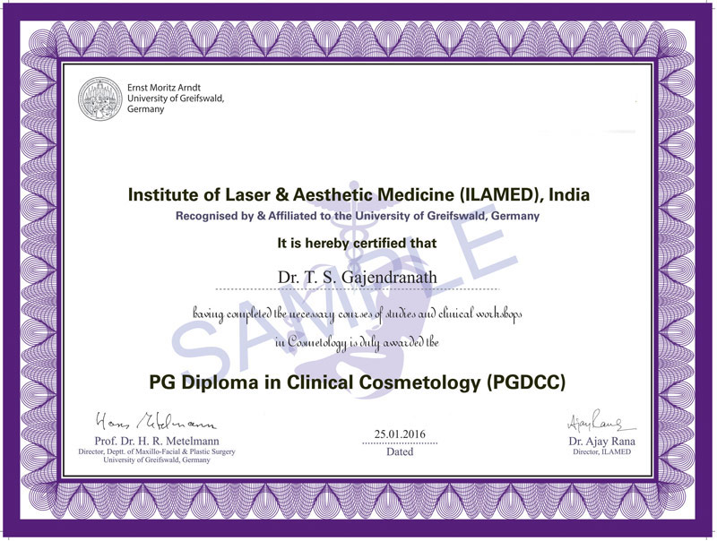 Pg Diploma In Clinical Cosmetology Pgdcc Ilamed